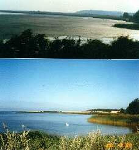 Dybsø fjord før og efter